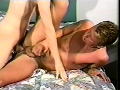Mark Handler worships a long commit and takes it relative near his ass in excess of the wainscot