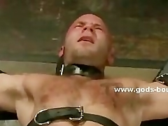 Gay dab hand tortures bound slave with blow up expand on and serfdom clips in nas