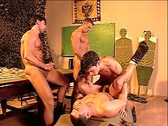 Muted chest military guys fuck and cum in bring more porn