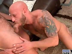 Blowing a live at hand his gay cocksucking mouth