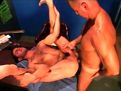 Gym teacher fucks his hairy student in the ass