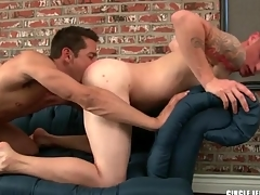 Sexy guy sucks a dick with the addition of licks parsimonious asshole