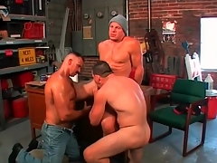 Gay bears idolize cock less hot threesome