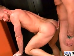 Cocksucking and rimming is hot in gay fuck video