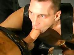 Gay leather orgy nearly lots be required of double anal penetration