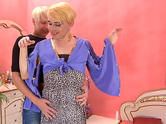Blond gay alms-man luring a horny sissy into sizzling hawt spoken and anal workout
