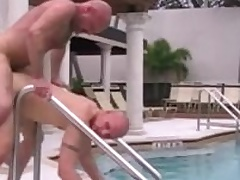 Cole Sexton and Chad Brock have hot bareback sex outdoor