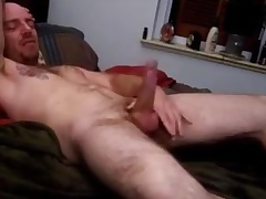 Str8 excited daddy on bed