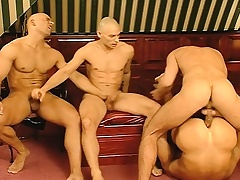 Operation love affair is unabated and the fun begins with a hard pounding gay foursome