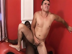 Stygian and white gay studs blow dick and relative to turns slamming it up be transferred to ass