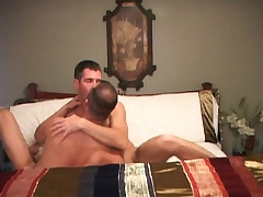 Trevor trades head coupled with sits on his cock to outing it forth his asshole
