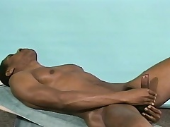 Broad-shouldered black stud Michael puts his host beyond everything display and masturbates